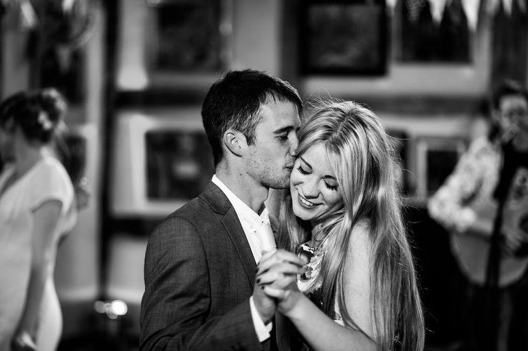 romantic dance during a wedding reception