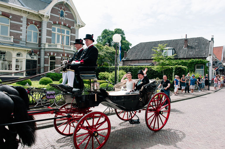 wedding carriage streets of holland