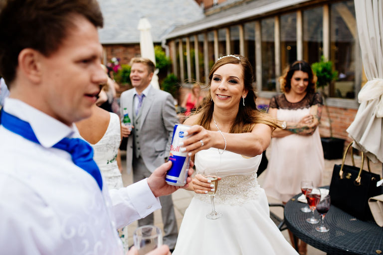bride groom redbull