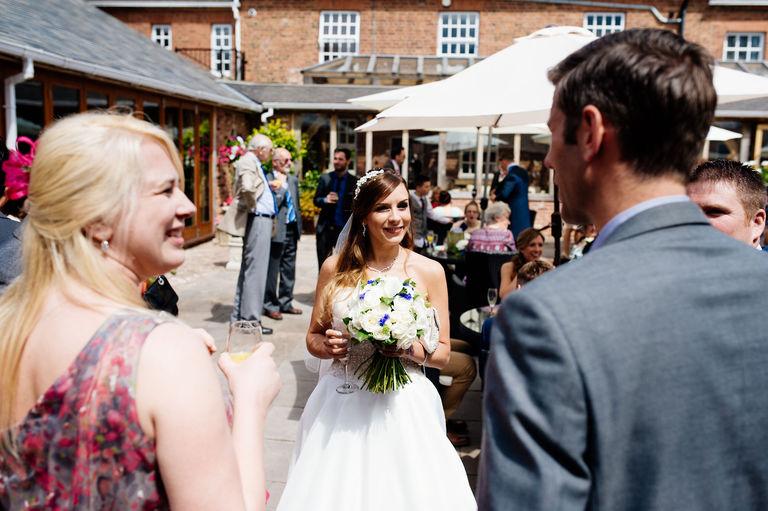 happy bride at swancar farm wedding