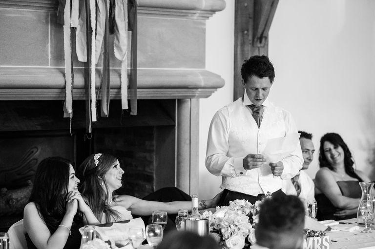 emotional grooms speech swancar farm wedding venue