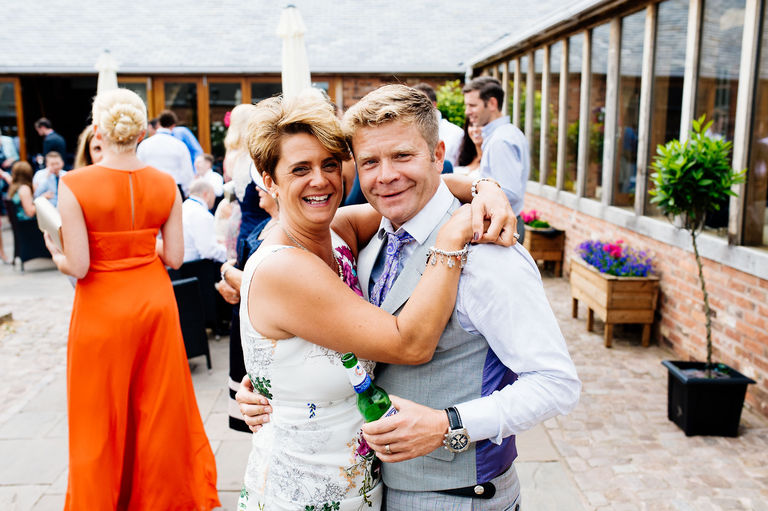 wedding guests at swancar farm