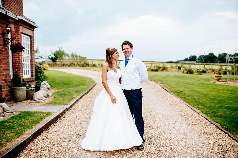relaxed wedding portrait nottinghamshire