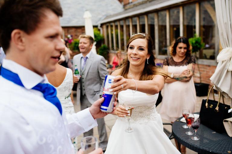 bride groom redbull
