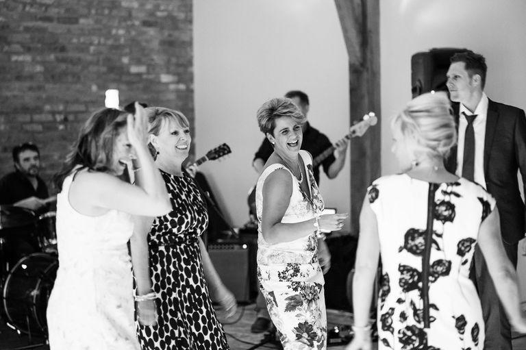 guests dancing at swancar farm