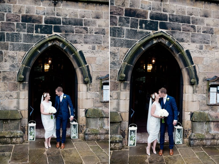 st alkmunds church duffield bride and groom