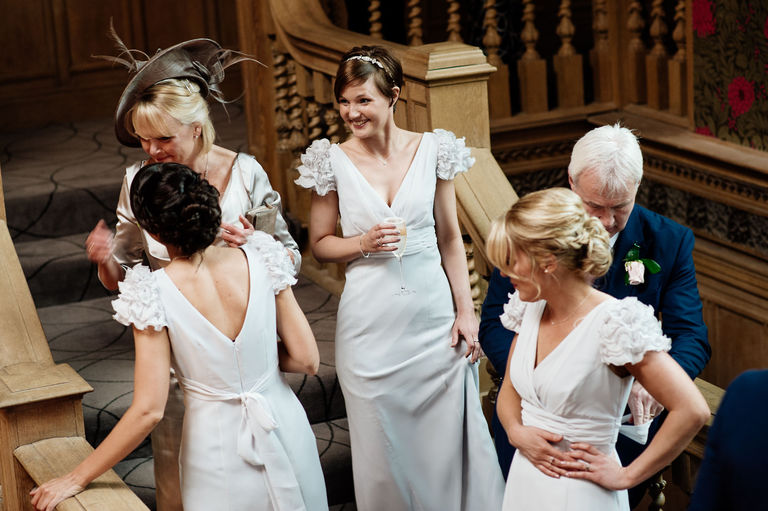 bridesmaids at thornbridge hall