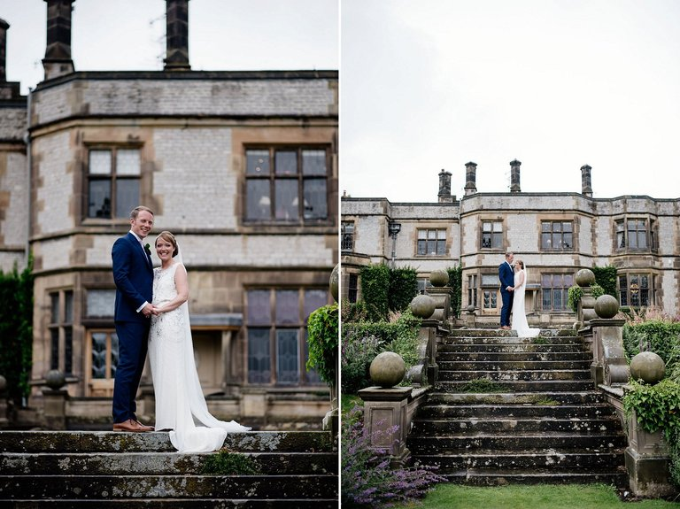 thornbridge hall wedding portraits