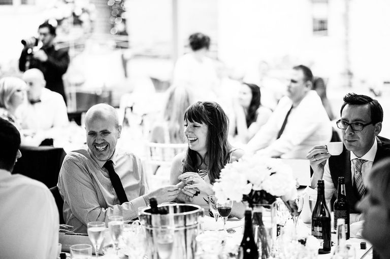 laughing guests during speeches