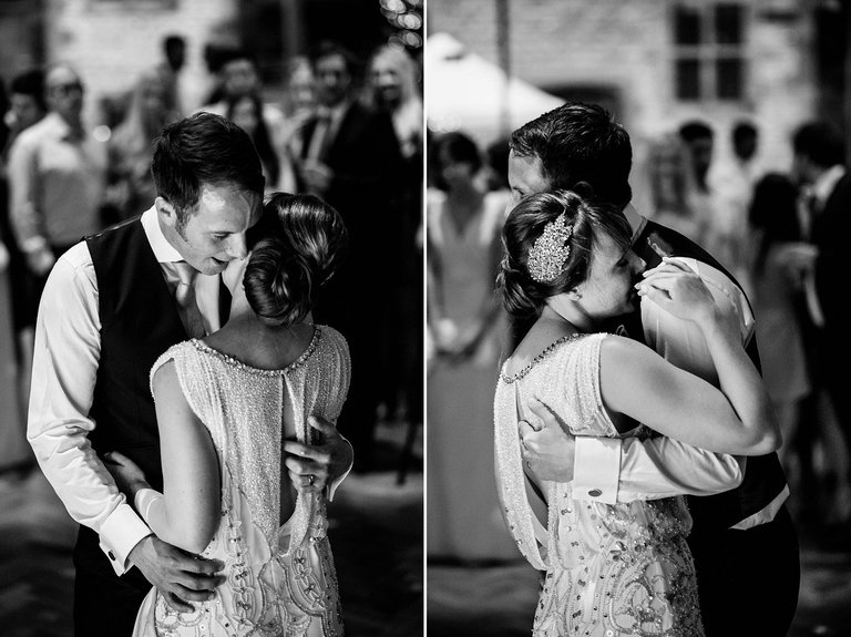 intimate first dance at a wedding