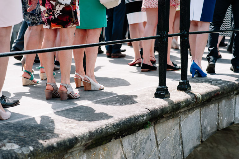 wedding guests feet