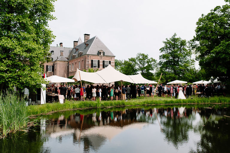 wedding reception at a European castle