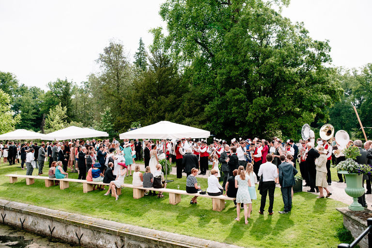 wedding reception in castle grounds