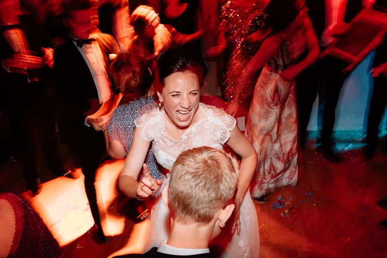 dynamic wedding reception photography