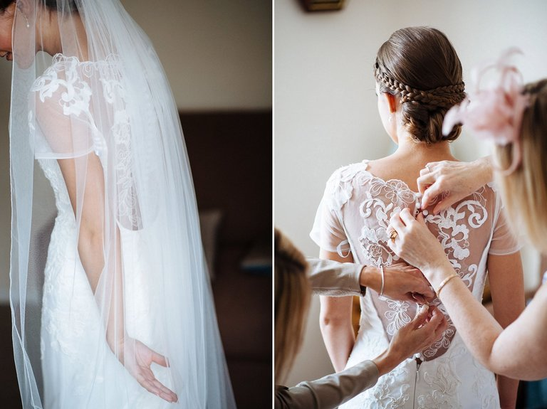Beautiful bridal preparation photography