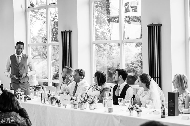 Shottle Hall wedding speeches