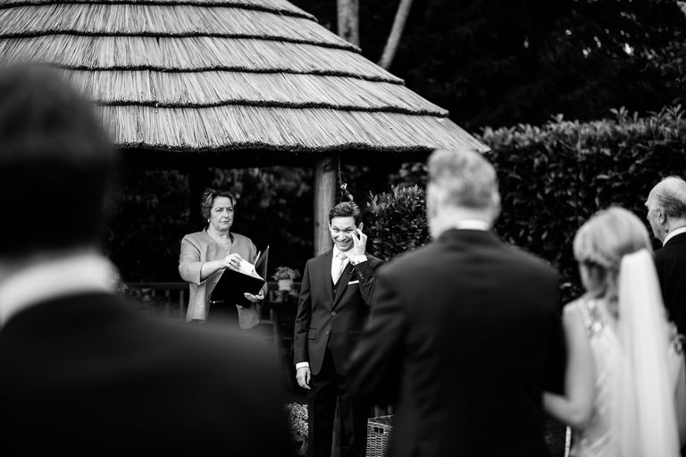 Groom sees his bride for the first time
