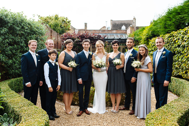 Manor House Cotswolds Wedding Group Photos