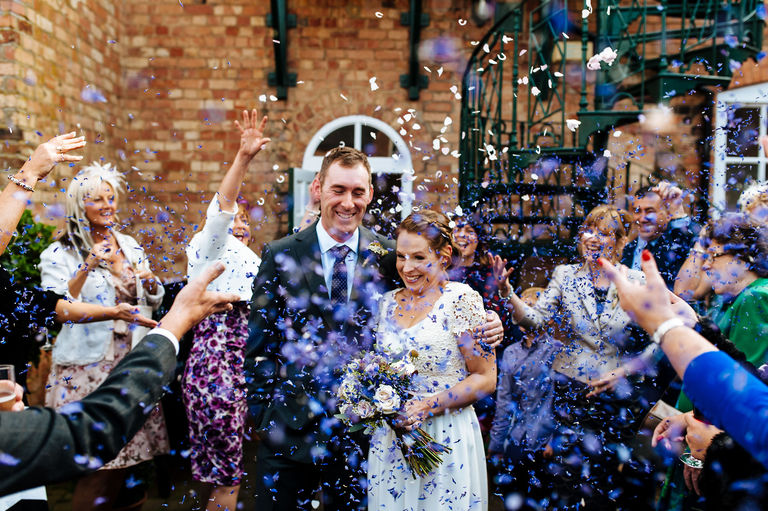 Yeldersley Hall Derbyshire Confetti