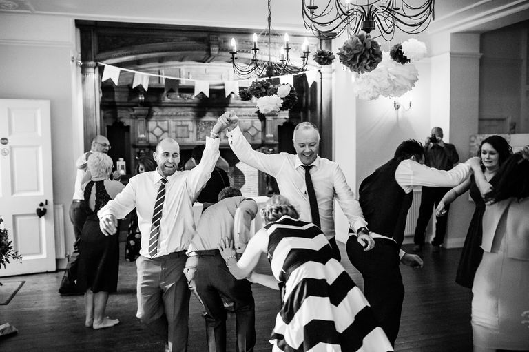 Wedding ceilidh photography