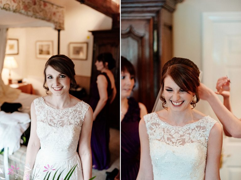 Bridal portraits at The Inn at Whitewell