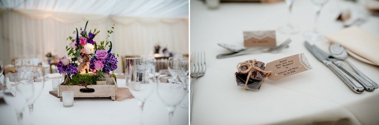 The Inn at Whitewell wedding tables