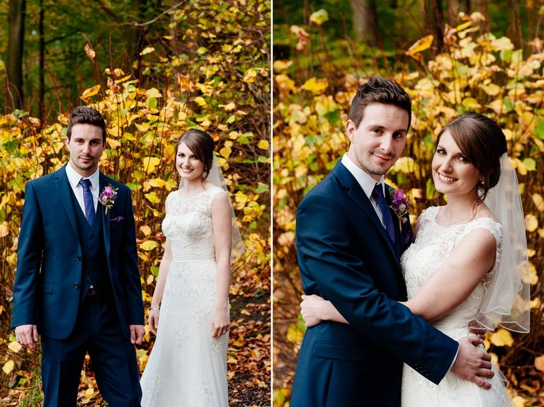 Outdoors wedding portraits in Autumn