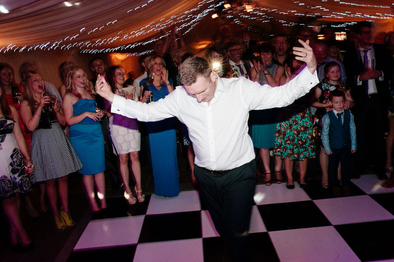 Dance off at a wedding
