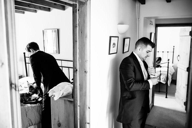 Last minute wedding preparations
