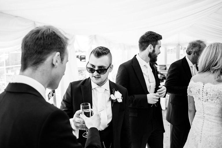 Wedding indoor sunglasses