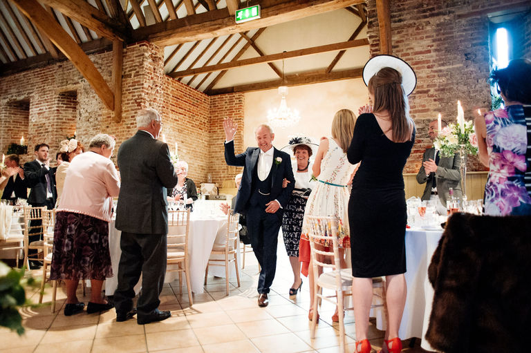 Bride's parents entrance