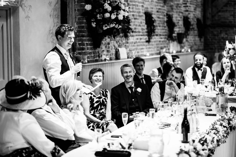 Elms Barn wedding grooms speech