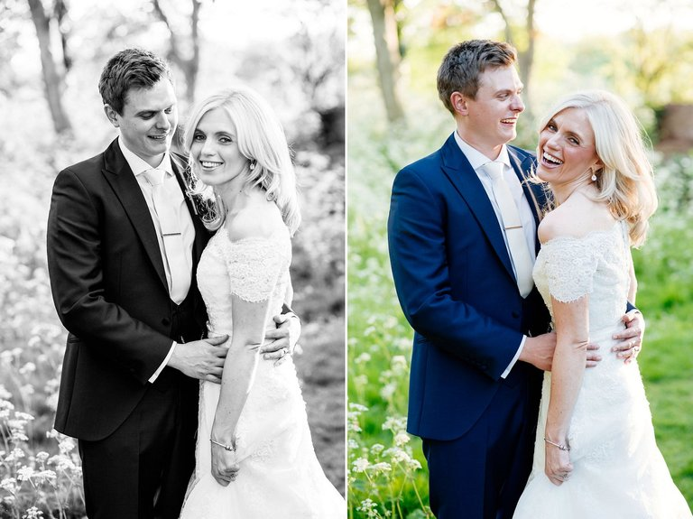 Natural outdoor wedding portraits