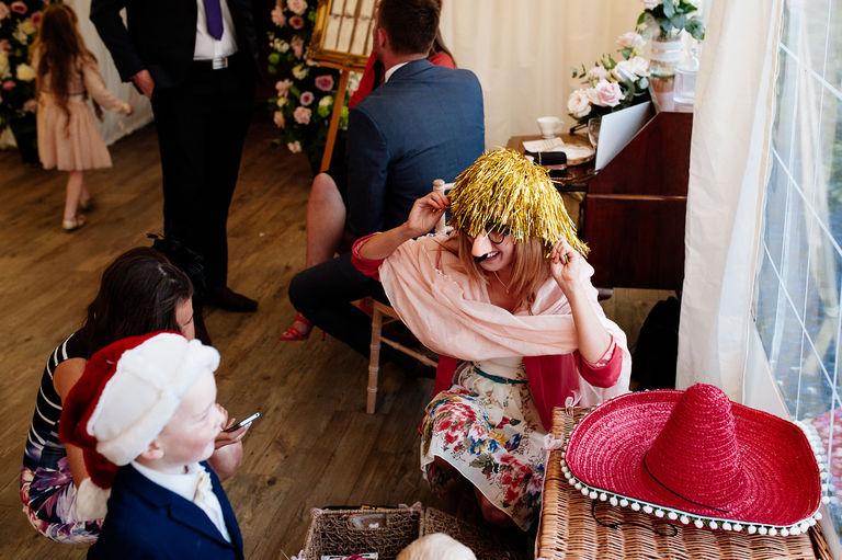 Wedding fancy dress props
