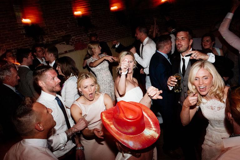 Wedding dance floor party
