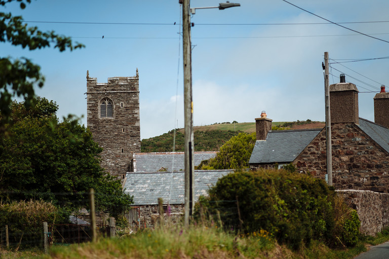 Welsh country village church wedding