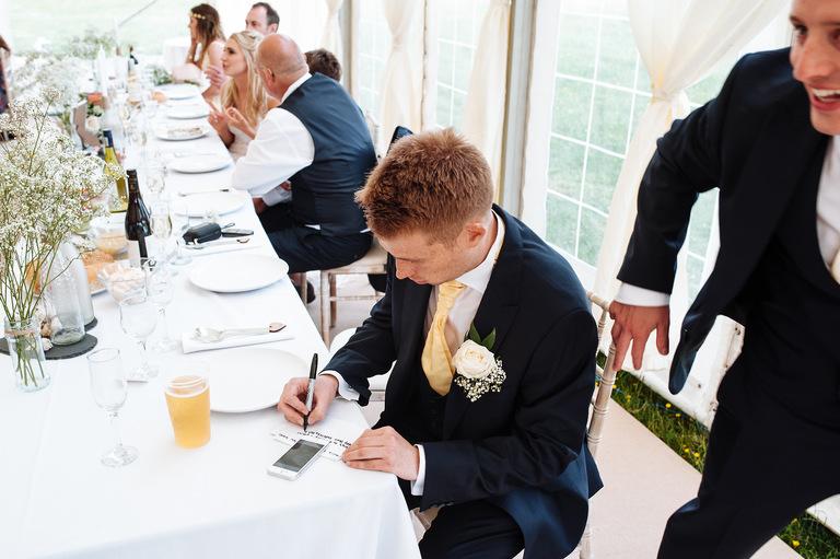 Best man writing speech