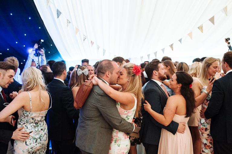 Dance floor kissing