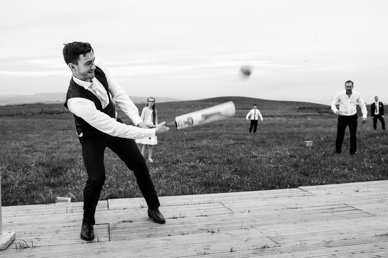 Wedding cricket match