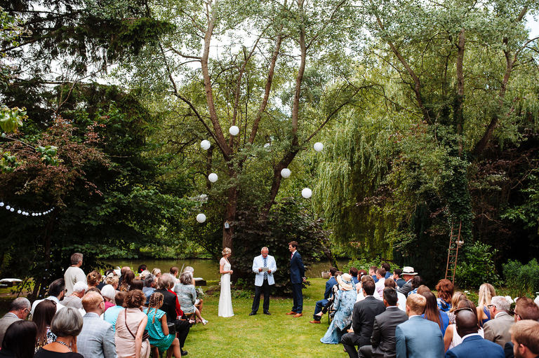 Beautiful outdoors wedding ceremony