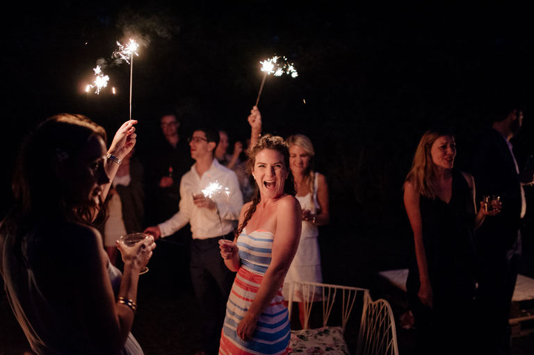 Garden Wedding Sparklers
