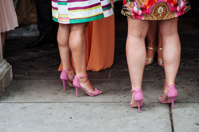 Wearing the same shoes at a wedding