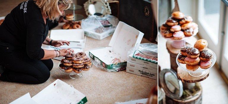 Krispy Kreme doughnuts wedding