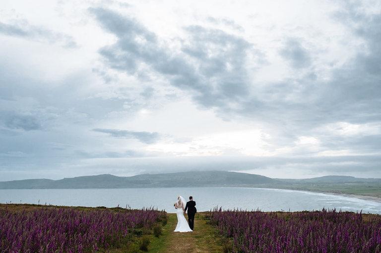 atmospheric outdoors wedding photo