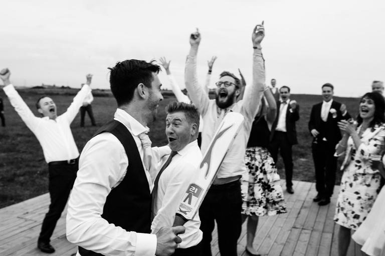 Playing Cricket at a Wedding