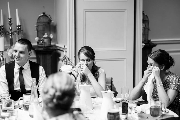 bride and sister crying speeches