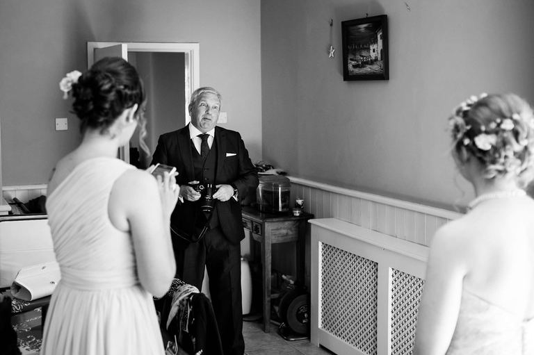 father of the bride with his daughter