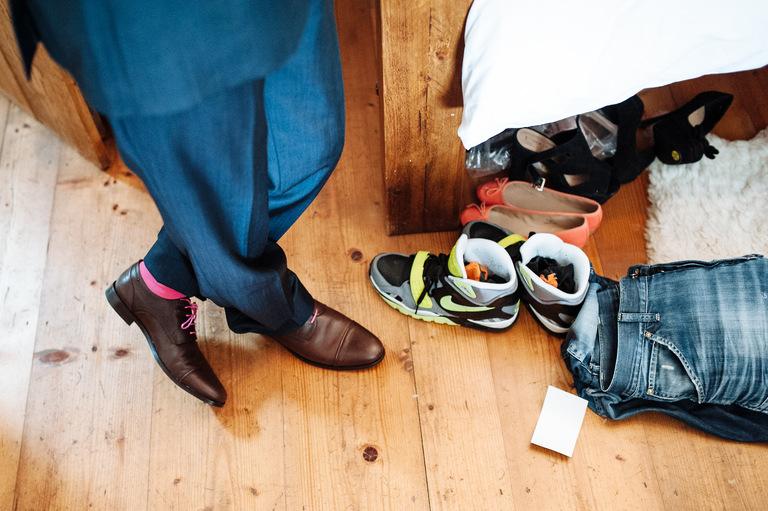 groom's coloured socks