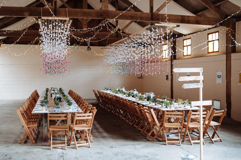 Barmsbyfield barns wedding venue interior