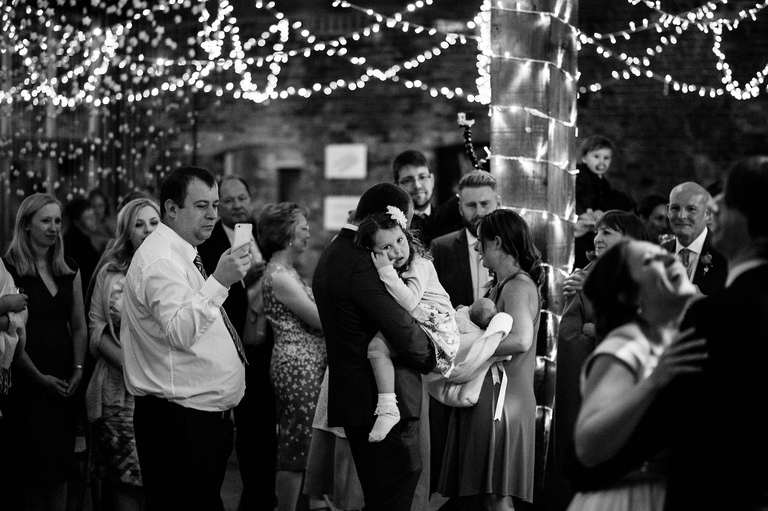 guests watch the first dance